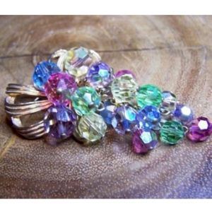 Vintage Pastel Colored Austrian Crystal Cl…